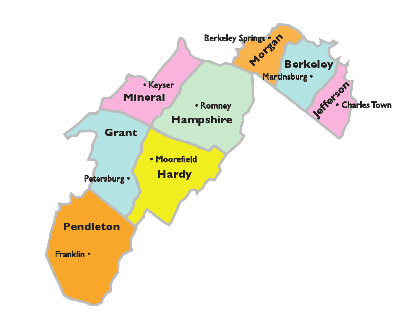 WV EP Map Towns